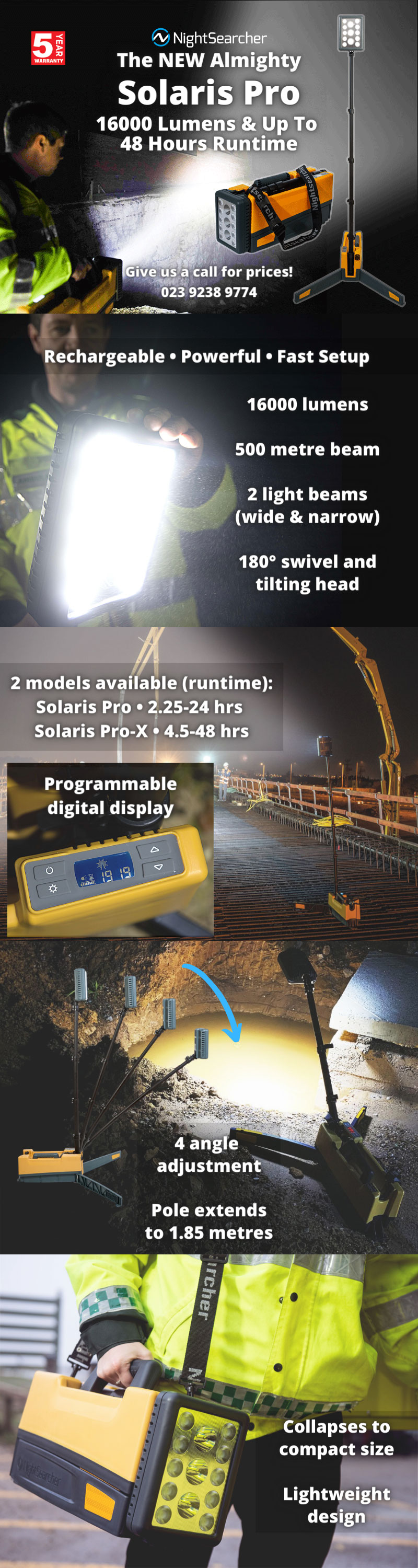 The NEW Almighty Solaris Pro Floodlight.